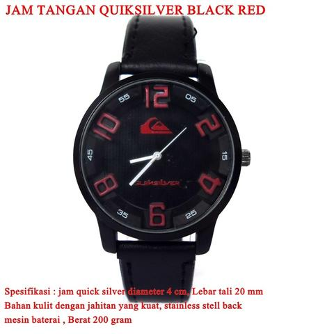 jam tangan Quicksilver black RED
