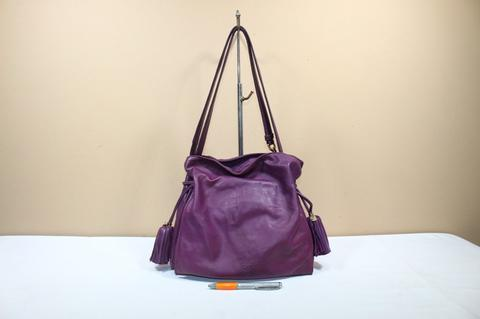 Tas branded LOEWE FRAMENCO Purple nappa leather sling shoulder bag second original