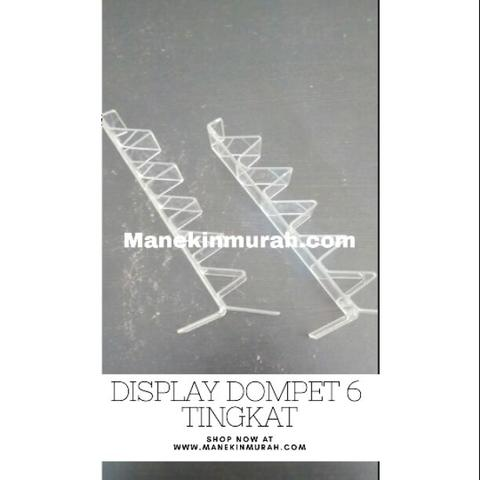 Display dompet 6 tingkat