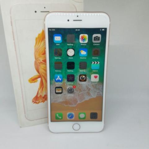 iPhone 6S Plus 32GB Rose Gold Fullset Super Mulus Garansi Panjang