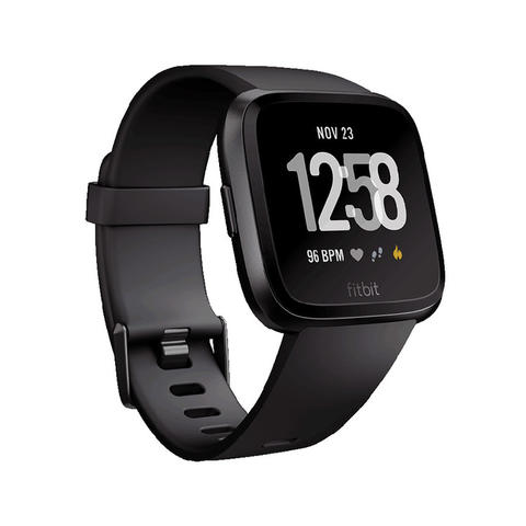 [JoJo CompTech] Fitbit Versa Black / Black Aluminum Fitness Super Smart Watch