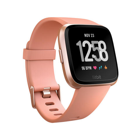 [JoJo CompTech] Fitbit Versa Peach / Rose Gold Aluminum Fitness Super Smart Watch