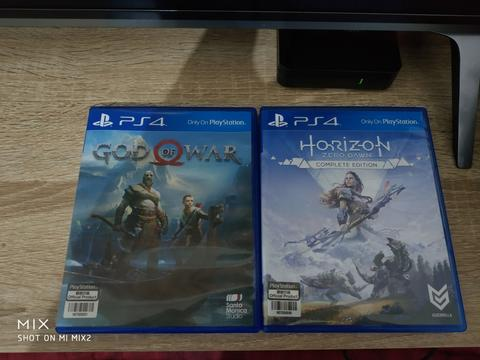 BD PS4 God Of War 4 & HZD Frozen Wild