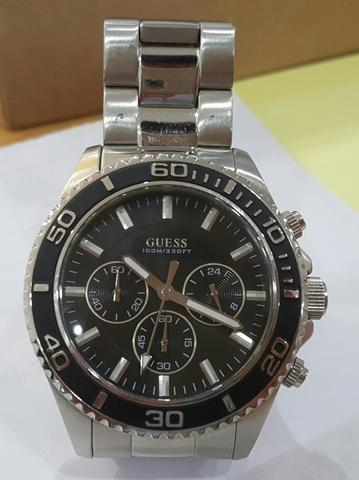 Jam GUESS Chrono original lengkap box komplit MURMER LIKE NEW