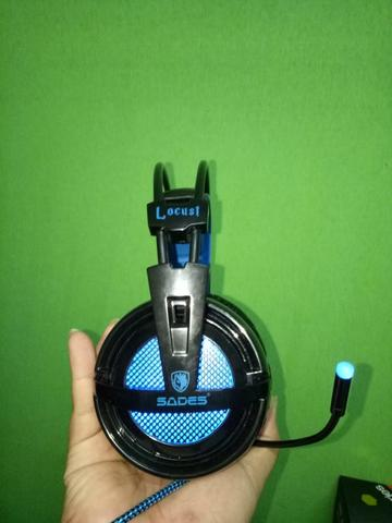 Headset Gaming Sades Locust 7.1 SECOND LIKE NEW