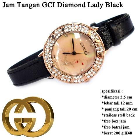 jam tangan wanita GCI Diamond Lady BLACK