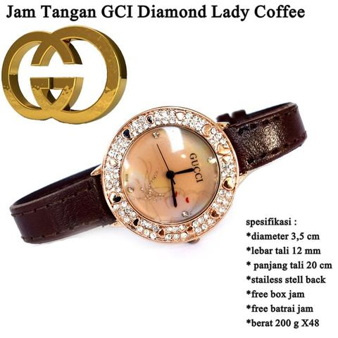 jam tangan wanita GCI Diamond Lady COFFEE