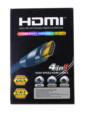 KABEL HDMI 4 IN 1 (MINI, MICRO, STD, CONNECTOR) HI-SPEED