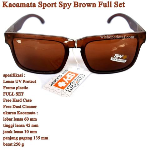 Kacamata Cowok Sunglasses SPY Brown Full set