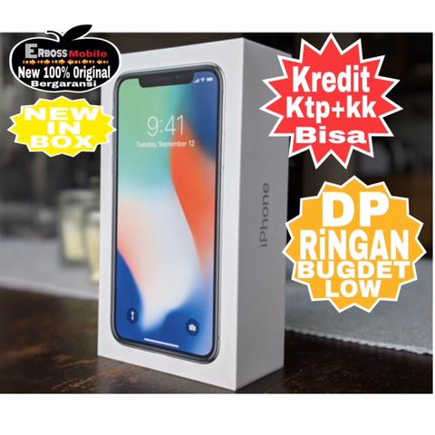 Kredit Low Dp 5jt IPhone X 64GB Apple New-Promo ditoko ktp+kk Wa 081905288895