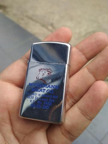Zippo Slim Vintage Advertise Wyssmann Meat Co.