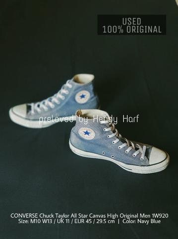 CONVERSE Chuck Taylor All Star Canvas High Men 1W920 ORIGINAL Sepatu Shoes  Sneakers e2a6fb4bd5