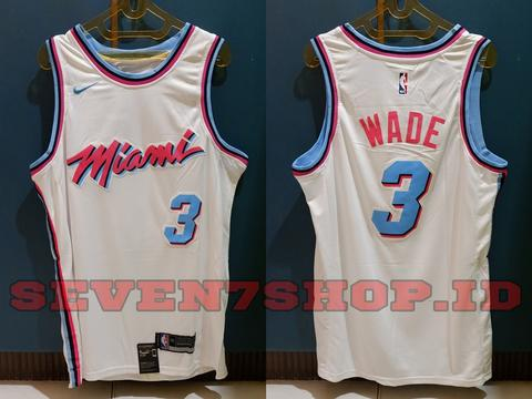 competitive price 9df84 9ae4d Jersey Basket NBA Swingman KW Dwyane Wade Miami Heat City Edition Import  China