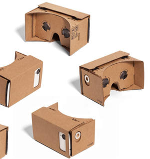 Cardboard Virtual Reality Large Size up to 6 Inch - Silver Magnet