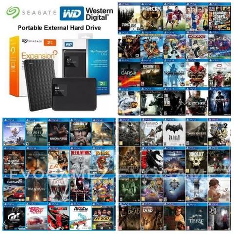 Game PS4 Hen + Hdd External Seagate 1TB Seagate 2TB & Hdd WD 1TB WD 2TB