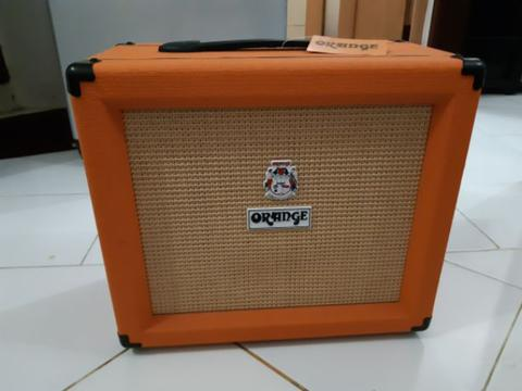 Jual Ampli Gitar Guitar Amplifier Orange Crush 35 RT Super Mulus Nego
