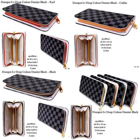 Dompet wanita Lv Deep Colour Damier Black