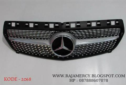 Grill Depan Mercedez Benz A Class W176 Diamond Grill Black Chrome