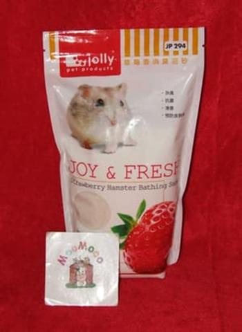 Jolly Bathing Sand Strawberry 1 Kg - Pasir Mandi Hamster