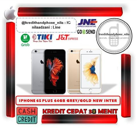 Kredit Iphone 6s Plus 64Gb Gold New Inter BNIB Tanpa CC Proses 3 Menit