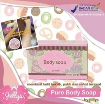 Pure Body Soap by Jellys BPOM Original - Jellys Soap - Body Soap