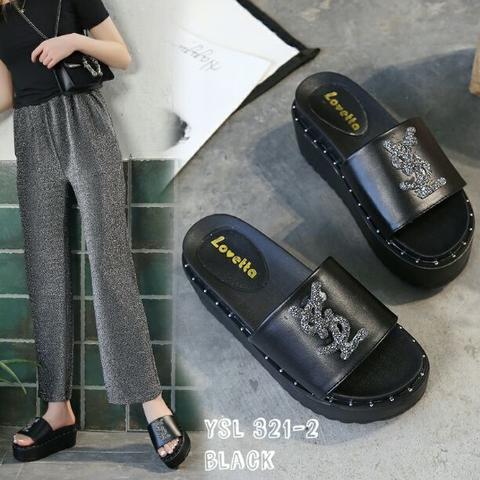 Wedges Slip On Fashion Korea Logo YSL SZD#321-2