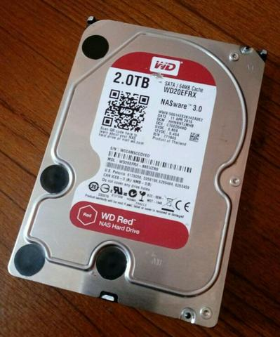 WD Red 2 Terabyte 64 MB Cache SATA Health 0%
