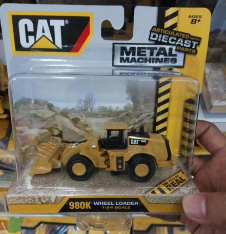Diecast Miniatur Alat Berat Caterpillar Metal Machines Wheel Loader 980K by Toystate