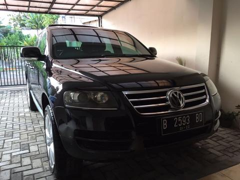 VW TOUAREG V6 3.2L BLACK ON BROWN 2007