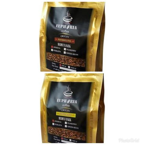 Paket Specialty Kopi Arabica 2 pack x @500g : Euphoria Coffee