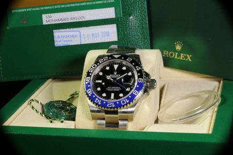 Rolex GMT-Master II 116710BLNR Blue Black Batman 5 Years 2018