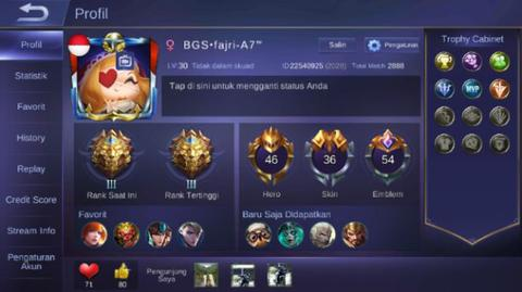 jual akun mobile Legends