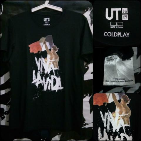 JUAL TSHIRT UNIQLO X COLDPLAY ORIGINAL