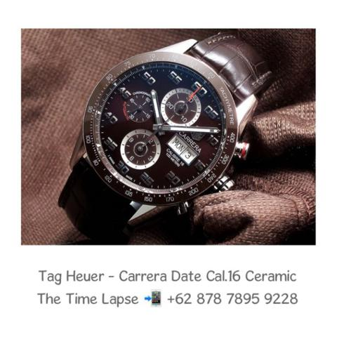 Tag Heuer - Carrera Date Cal.16 Brown Ceramic Bezel Chronograph