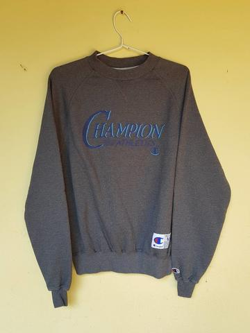 Champion Crewneck Grey Black USED 9/10