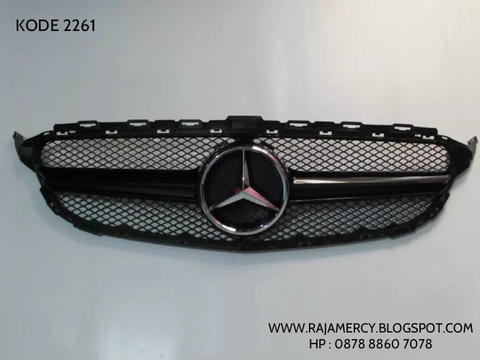 Grill Mercedes Benz C Class W205 AMG Style Black With Emblem Grill AMG
