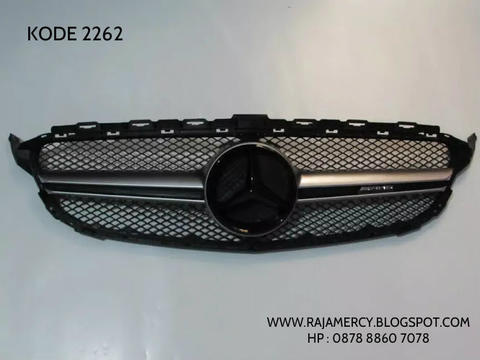 Grill Mercedes Benz C Class W205 AMG Style Silver With Emblem Grill AMG