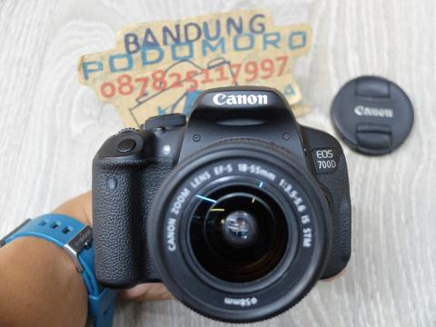 Jual CANON 700D dgn 18-55 IS STM 'A'- BANDUNG