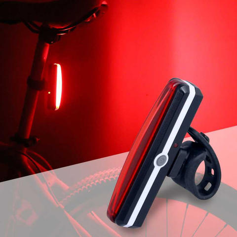 Lampu Sepeda LED Taillight Rechargeable - Merah
