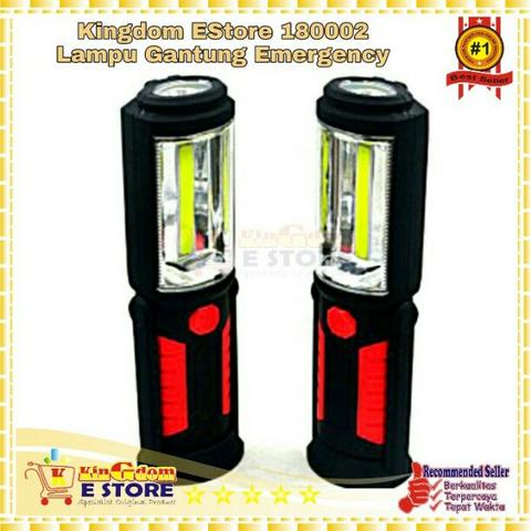 KS002 Lampu Gantung Emergency - Red/Black