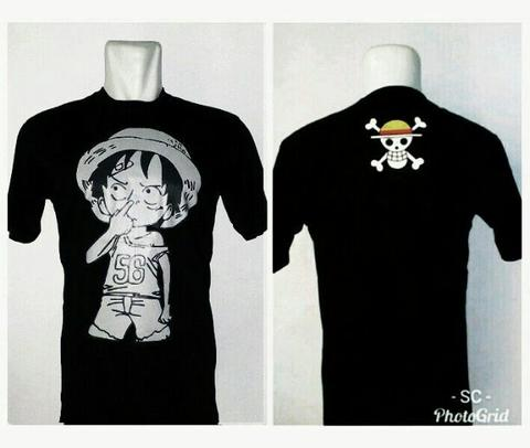 Kaos Anime One Piece Luffy Cotton Combed 30s Adem