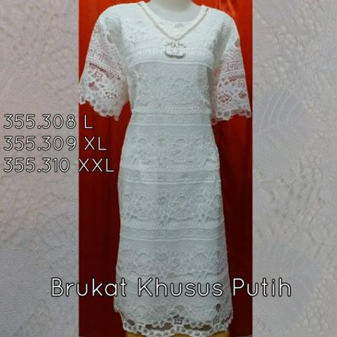 Baju Dress Brukat 355.308 L Import Murah
