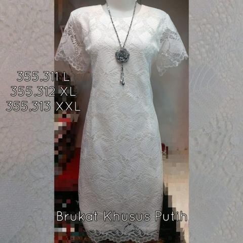 Baju Dress Brukat 355.312 XL Import Murah