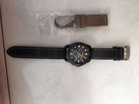 Jam Expedition original hitam hijau army list biru strap dapat 2