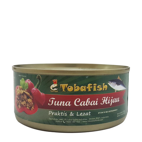 Tobafish Tuna in Green Chili / Tuna Cabai Hijau - 140g