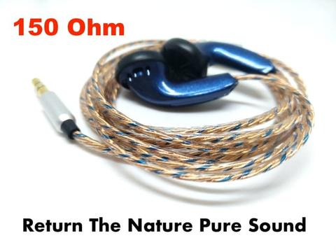 Blue Very Blue 150 ohm Earbud Pure Sound Sweet Vocal Earphones