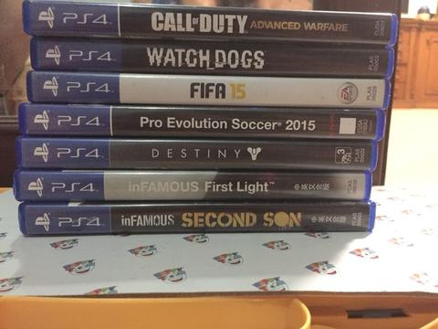 Jual GAME PS4 Bundling, COD, Watchdog, FIFA, PES, INFAMOUS ETC.