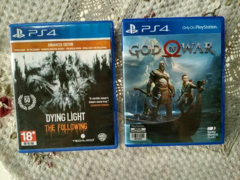 god of war & dying light enchated ps4