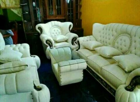 Stok Ready Sofa mewah King jaguar white