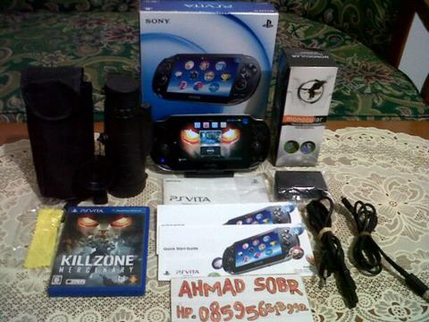 ps vita black fat 16gb dan bonus